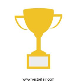 trophy cup championship isolated icon