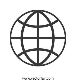global sphere isolated icon