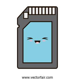 memory stick card isolated icon