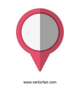 pointer location pin isolated icon