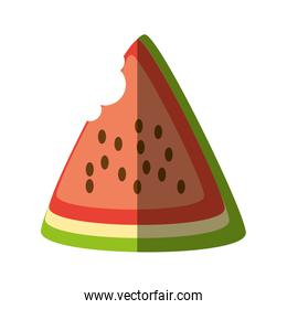 watermelon fresh fruit isolated icon