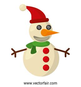 snowman christmas character isolated icon