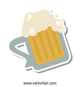 fresh beer glass isolated icon