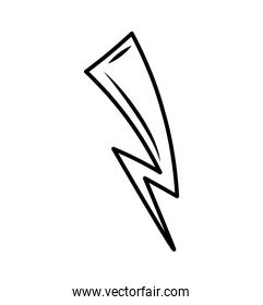 ray storm climate isolated icon