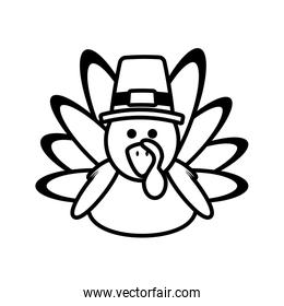 turkey character thanksgiving icon