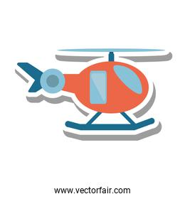 helicopter vehicle flying isolated icon