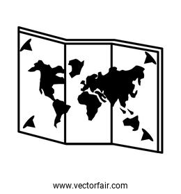 map paper guide isolated icon