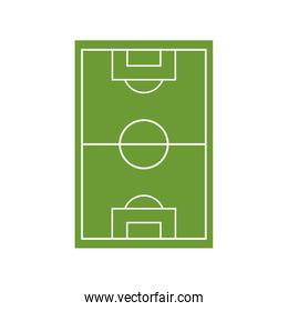 soccer field camp isolated icon