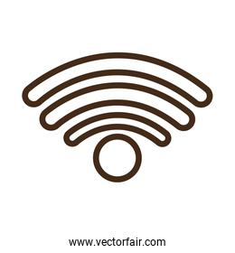 wifi signal service isolated icon