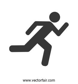 avatar athlete running silhouette isolated icon