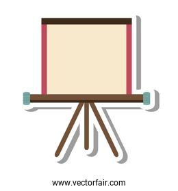 paper board training isolated icon