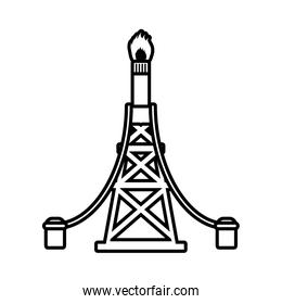 tower oil exploration industry