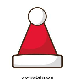 merry christmas hat isolated icon