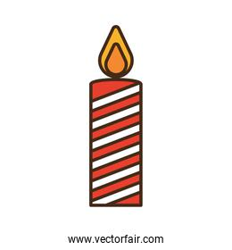 merry christmas candle isolated icon