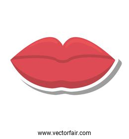 sexy female lips isolated icon