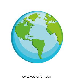 world planet earth isolated icon