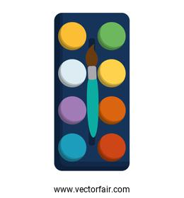 paint pallete isolated icon