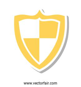 shield security system isolated icon