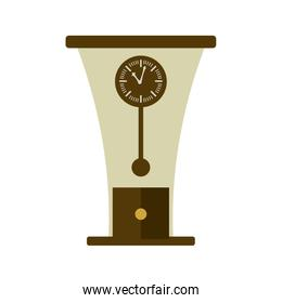 wooden clock antique isolated icon