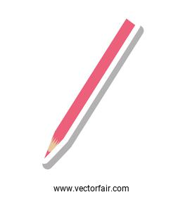 color pencil isolated icon