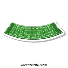 american football field isolated icon