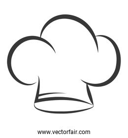 chef hat uniform isolated icon