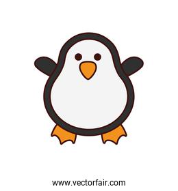 cute penguin character isolated icon