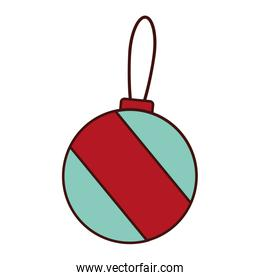 merry christmas ball isolated icon