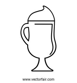 ice cup beverage isolated icon
