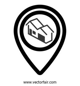 pin real estate isolated icon