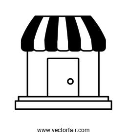 store building shop isolated icon