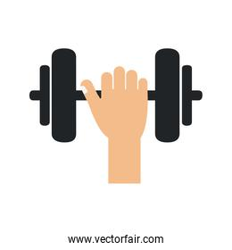 weight lifting gym accesory icon