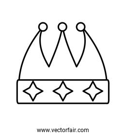 crown decorative drawing isolated icon