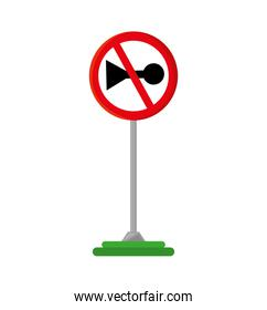 do not whistle traffic signal isolated icon