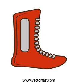 boxing shoes equipment isolated icon