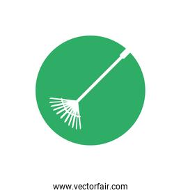garden rake isolated icon