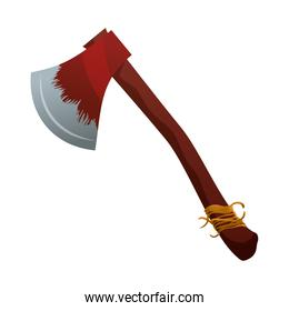 ax with wooden handle icon