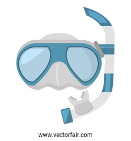 diving mask and snorkel sea