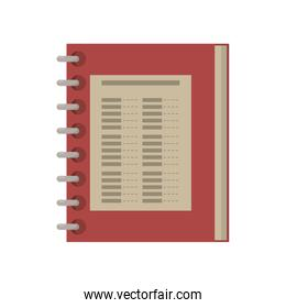 food restaurant menu spiral notepad