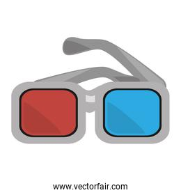 glasses 3d movie cinema design