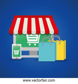 shopping online technology device gift present