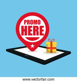 promo here online gift pin map