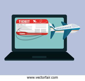 travel laptop ticket airline application