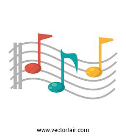 note musical melody sound