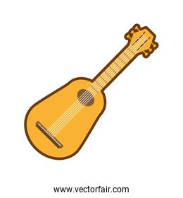 cartoon guitar musical instrument icon