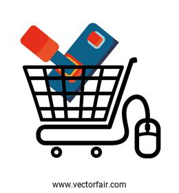 shopping cart online game mouse technology virtual
