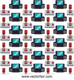 gamepad joystick collection seamless pattern design