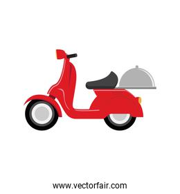 red scooter speed delivery symbol