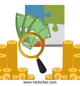 business strategy search money coins
