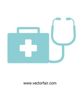 first aid kit stethoscope suitcase emergency clinic